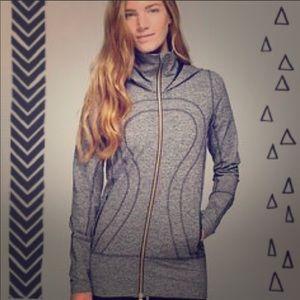 Lululemon stride jacket heathered gray 4